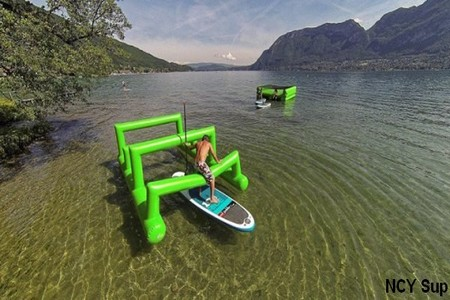 stand up paddle annecy team building