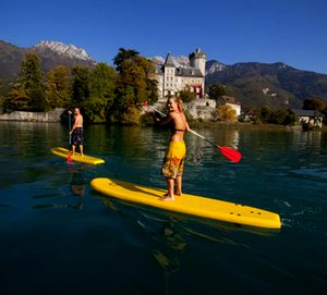 stand up paddle challenge team building annecy