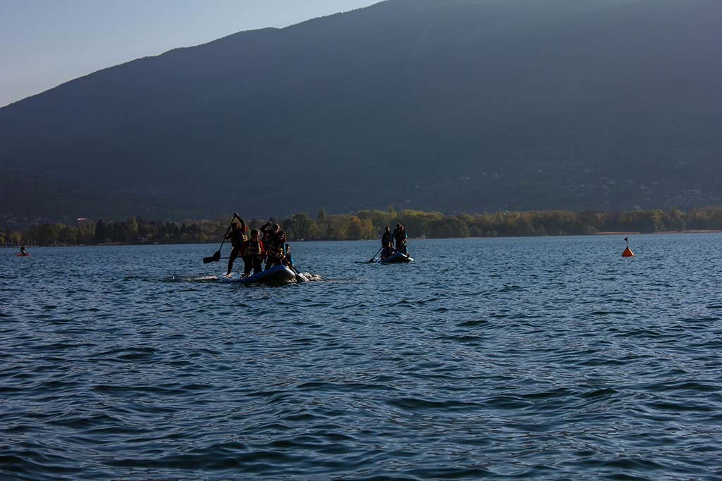 paddle géant annecy team building